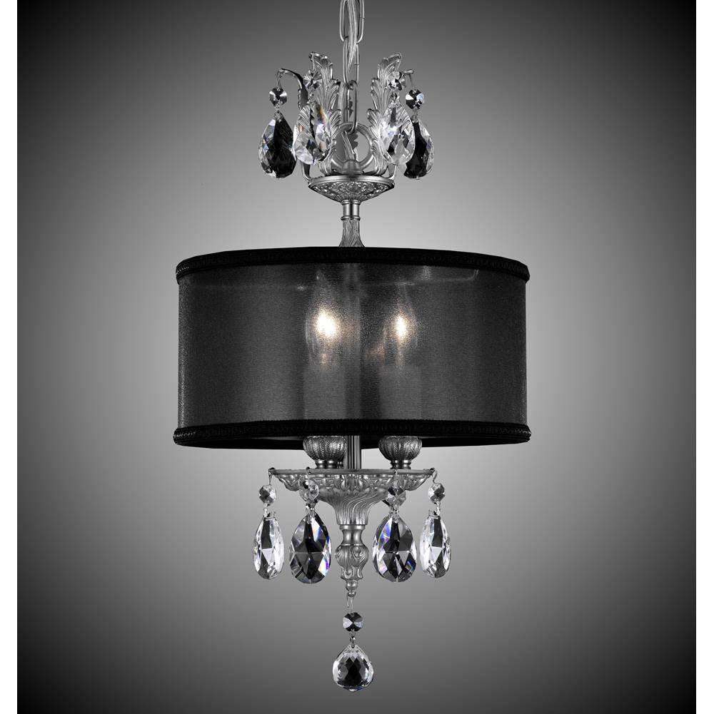 American Brass And Crystal 3 Light Llydia Pendant