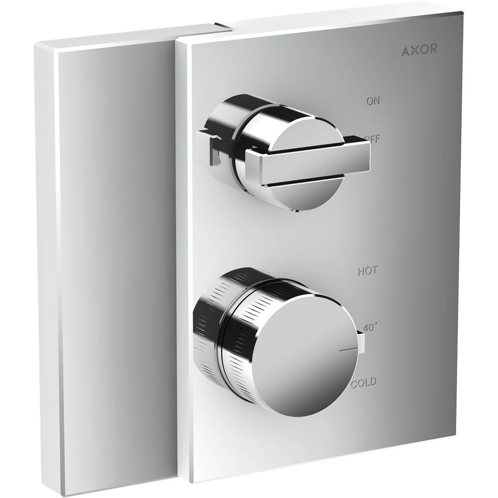 Axor AXOR Edge Thermostatic Trim with Volume Control in Chrome