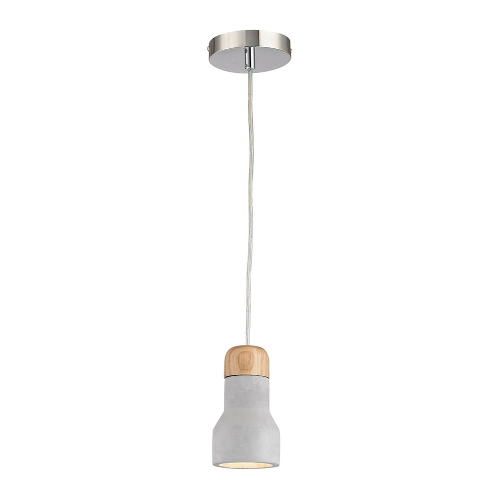 Elk Home Brutewood 1 Light Pendant In Polished Concrete
