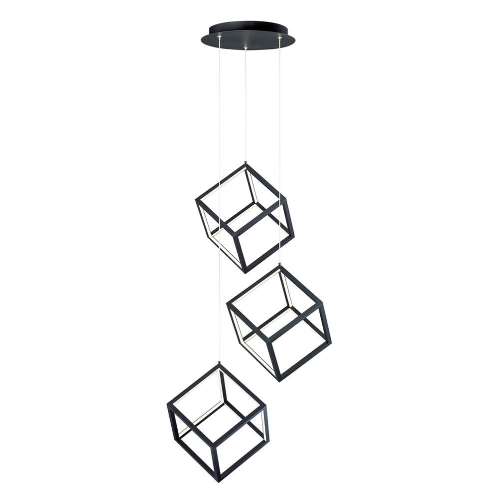 ET2 4 Square 3-Light LED Pendant