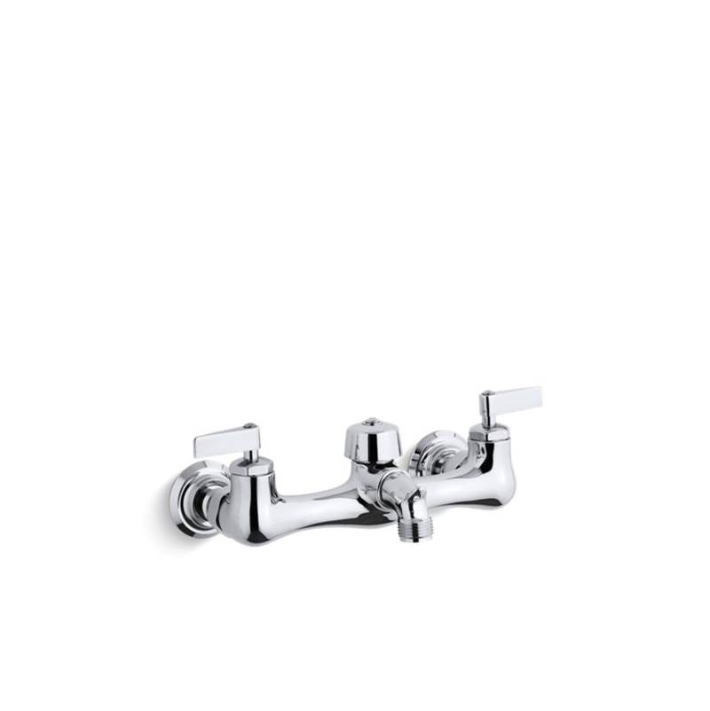 Kohler Knoxford™ Double lever handle service sink faucet with 2-1/4'' vacuum breaker threaded spout