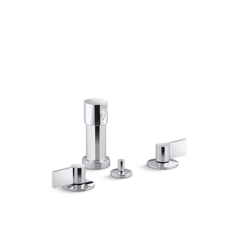Kohler Components™ Widespread bidet faucet with Lever handles