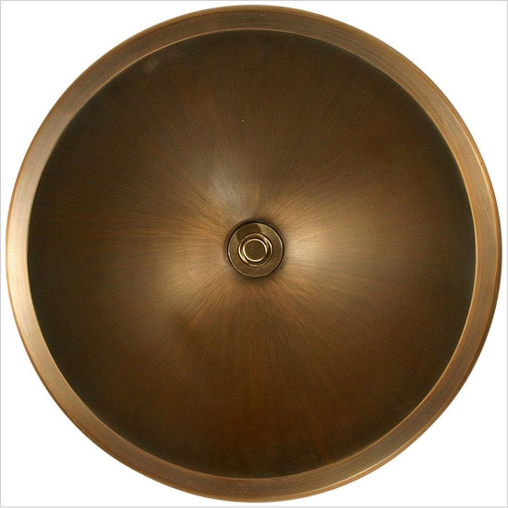 Linkasink Bronze Large Round Smooth - Unlacquered Brass