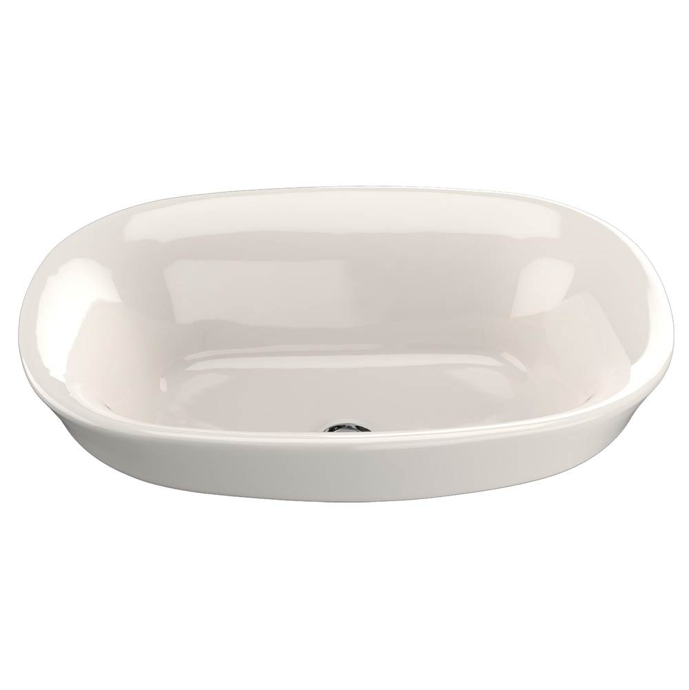 Toto Maris™ Oval Semi-Recessed Vessel Bathroom Sink with CEFIONTECT, Sedona Beige
