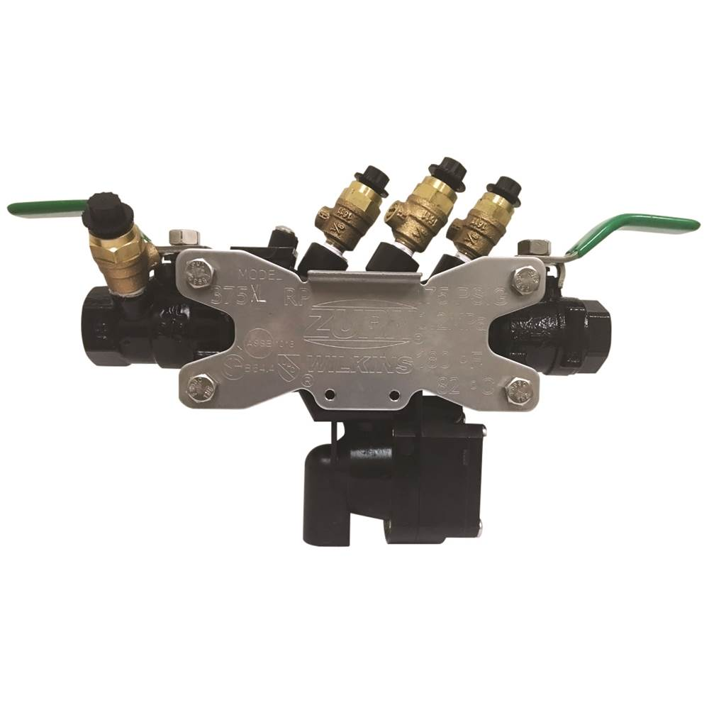 Zurn Industries 1'' 375XL Reduced Pressure Principle Backflow Preventer with black fusion epoxy coating